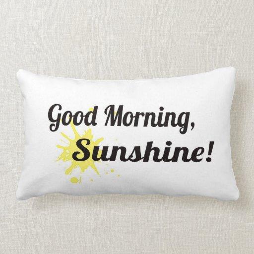 Buena mañana/buenas noches almohada