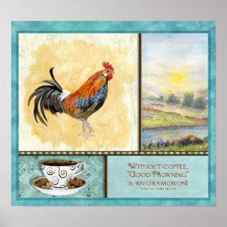 """Buena mañana, café,"" Audrey Jeanne Roberts Póster"