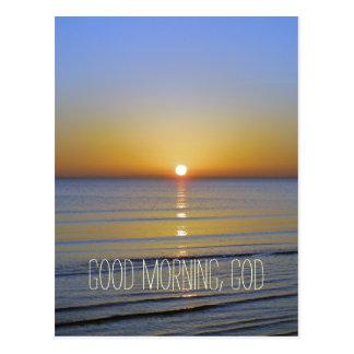 Buena mañana, cita de dios postal