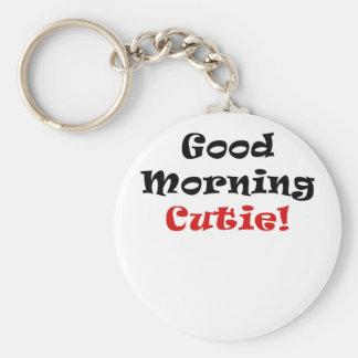 Buena mañana Cutie Llaveros Personalizados