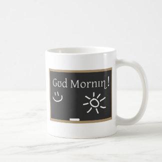 Buena mañana fonética tazas de café