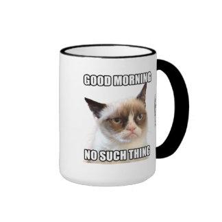 Buena mañana gruñona de Cat™ - ninguna tal cosa Taza De Dos Colores