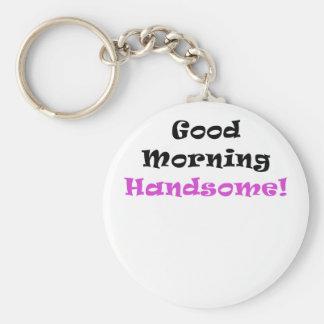 Buena mañana hermosa llavero