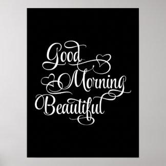Buena mañana hermosa - poster inspirado póster