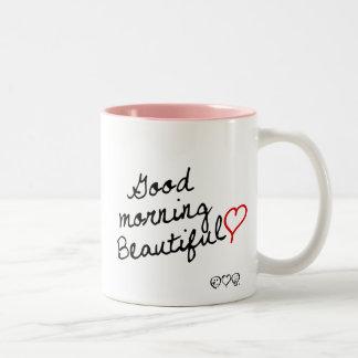 ¡Buena mañana hermosa Tazas De Café