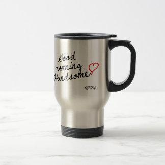 Buena mañana hermosa taza térmica