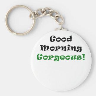 Buena mañana magnífica llavero personalizado