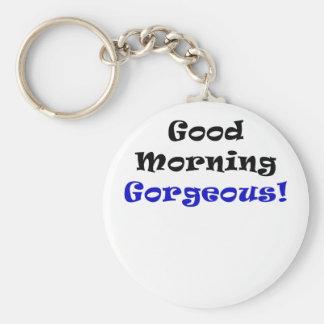 Buena mañana magnífica llaveros