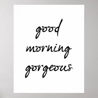 Buena mañana magnífica póster