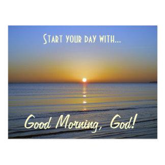Buena mañana, mensaje cristiano inspirado de dios postal