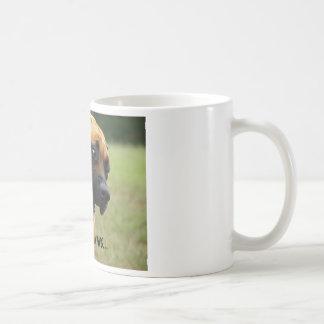 Buena mañana - perro inglés de bostezo del mastín taza de café