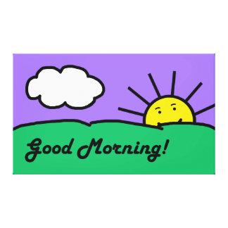 Buena mañana Placemat Impresión En Lona Estirada