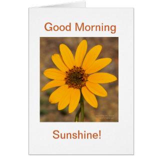 ¡Buena mañana, sol! Tarjeta Pequeña
