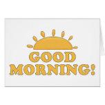 Buena mañana Sun Tarjetón