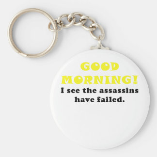 Buena mañana veo a los asesinos haber fallado llaveros personalizados