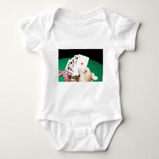 Buena mano del póker body para bebé