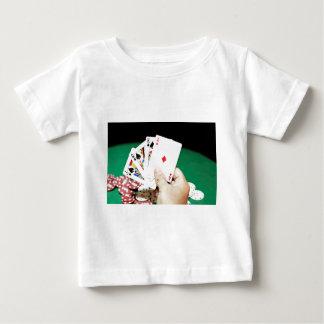 Buena mano del póker playera de bebé