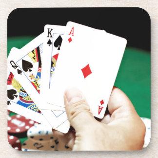 Buena mano del póker posavasos de bebida