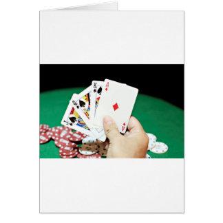 Buena mano del póker tarjeta de felicitación