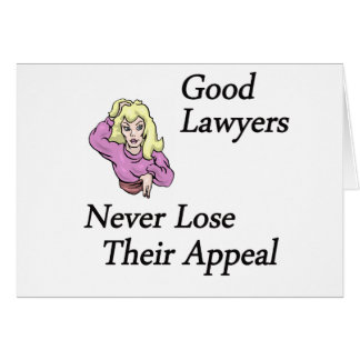 buena mujer de los abogados tarjeta de felicitación