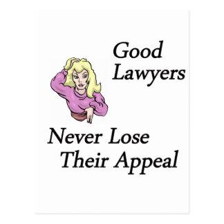 buena mujer de los abogados tarjetas postales