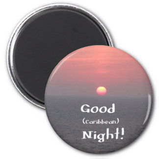 ¡Buena noche (del Caribe)! Imán Redondo 5 Cm