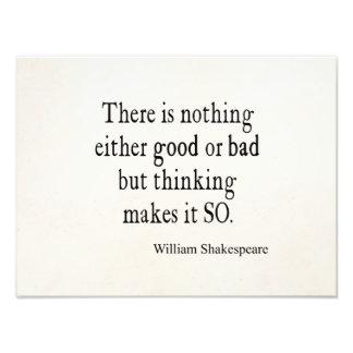 Buena o mala de Shakespeare cita de pensamiento na Cojinete