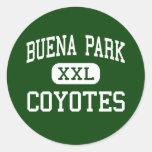 Buena Park - coyotes - alta - Buena Park Pegatina Redonda