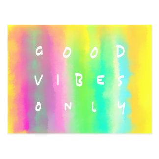 Buena pintura de la inspiración de la positividad tarjetas postales