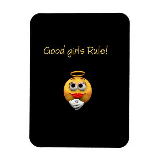 ¡Buena regla de los chicas! imán