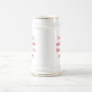 Buena salsa de los animales mimosos jarra de cerveza