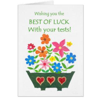 Buena suerte con la tarjeta de las pruebas -