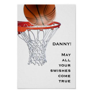 buena suerte del baloncesto póster