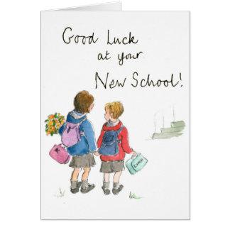 Buena suerte - empezar la escuela tarjeta