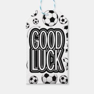 Buena suerte - fútbol etiquetas para regalos