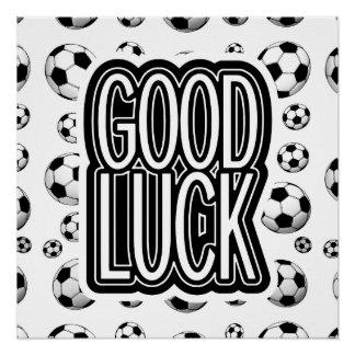 Buena suerte - fútbol perfect poster