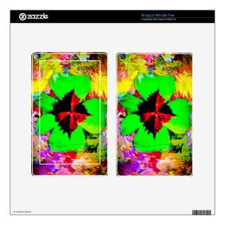 Buena suerte - Glücksbringer Kleeblatt Skin Para Kindle Fire