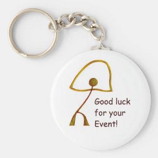 Buena suerte para el acontecimiento especial llaveros personalizados