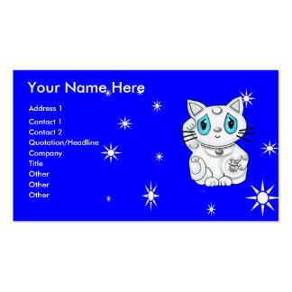 Buena suerte que tienta el gato Maneki Neko Plantillas De Tarjetas De Visita
