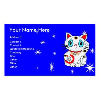 Buena suerte que tienta el gato Maneki Neko Tarjetas De Visita