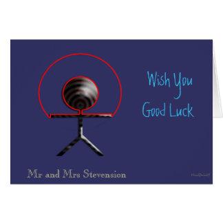 Buena suerte tarjeta de felicitación