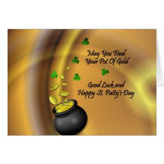 Buena suerte y St. feliz Patty' día de s Tarjeta De Felicitación
