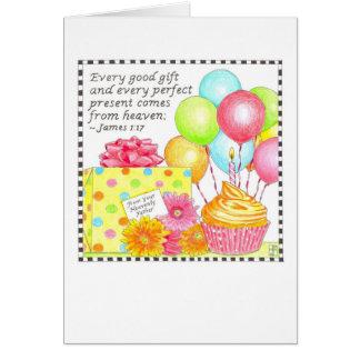 Buena tarjeta de cumpleaños del regalo