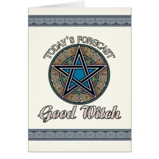 Buena tarjeta de felicitación de la bruja