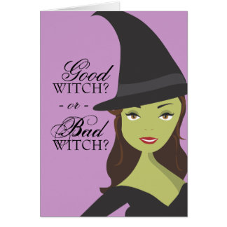 Buena tarjeta de Halloween de la bruja o de la bru