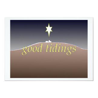 Buena tarjeta de Navidad de las noticias Invitación 12,7 X 17,8 Cm