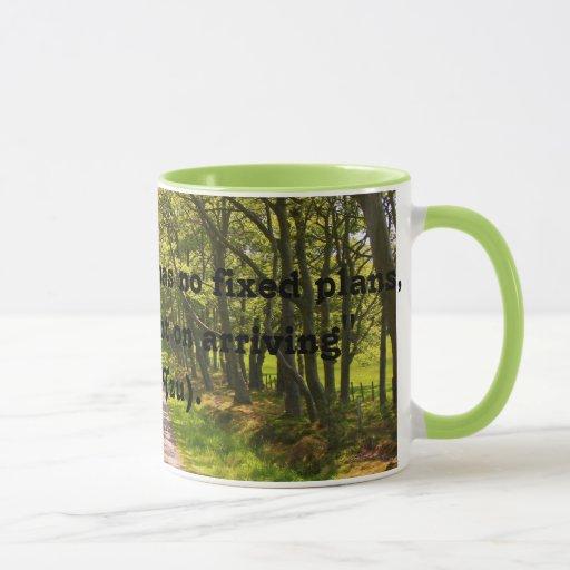 Buena taza de café de la cita del viajero (Lao