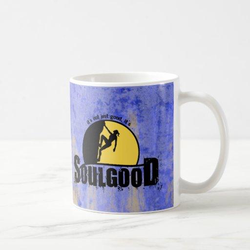 Buena taza de café de la escalada del alma