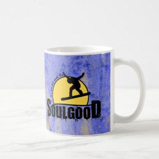 Buena taza de café de la snowboard del alma