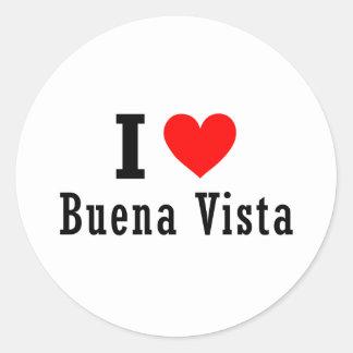 Buena Vista, Alabama City Design Classic Round Sticker